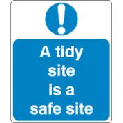 Mandatory Safety Sign - A Tidy Site 021